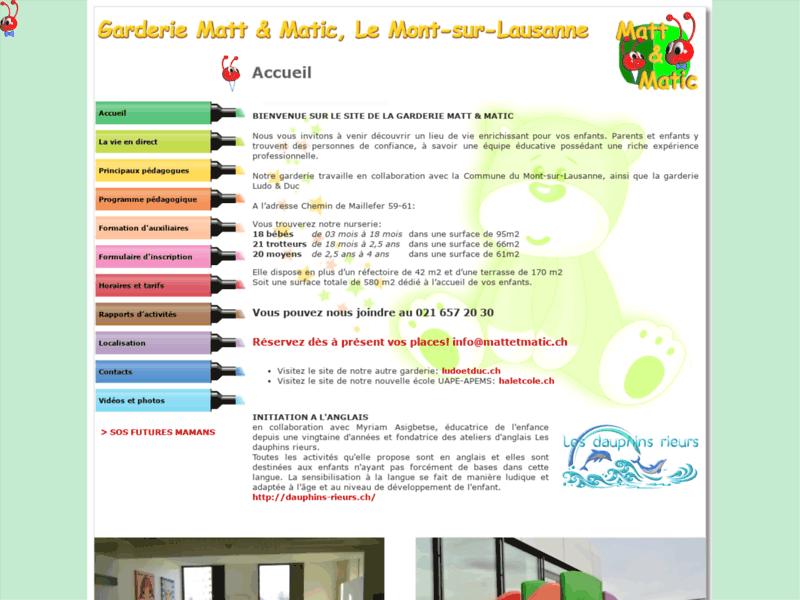 Garderie Lausanne - Matt et Matic