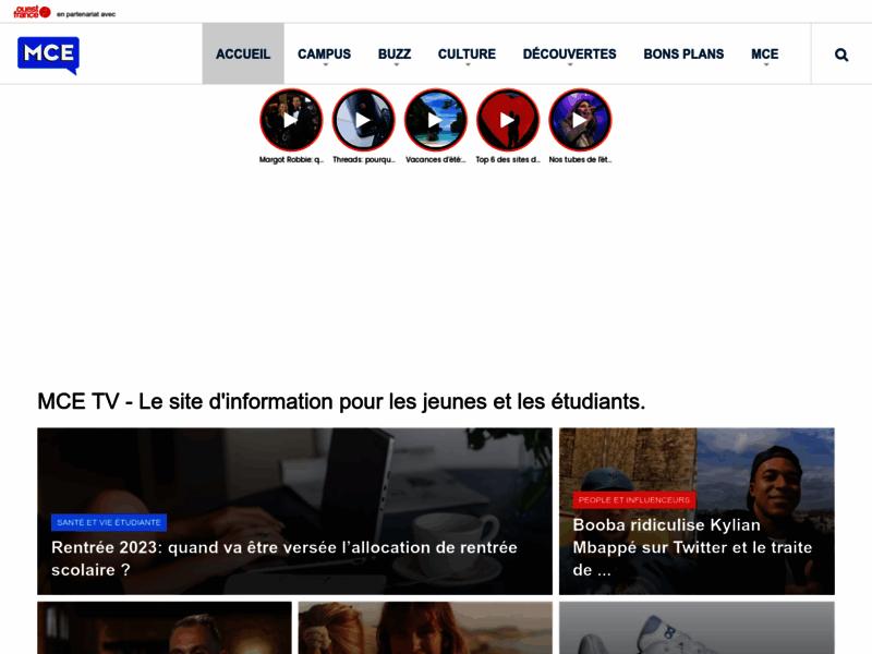 MCE, La première chaîne de télévision étudiante !