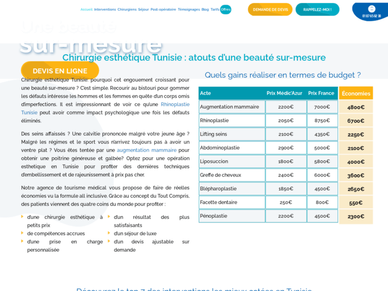 Chirurgie esthétique Tunisie : Pour un séjour médical réussi