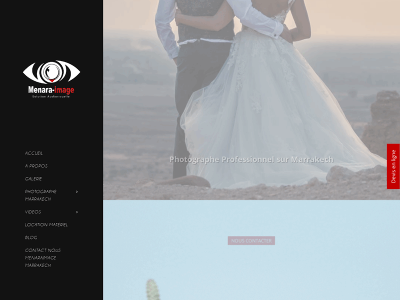 Screenshot du site : Photographe Marrakech