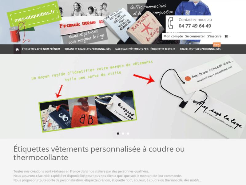Mes-etiquettes.fr, spécialiste de l'étiquette vêtement personnalisée