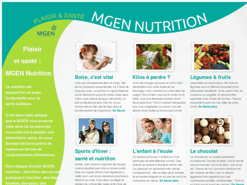 MGEN : Dossiers nutrition