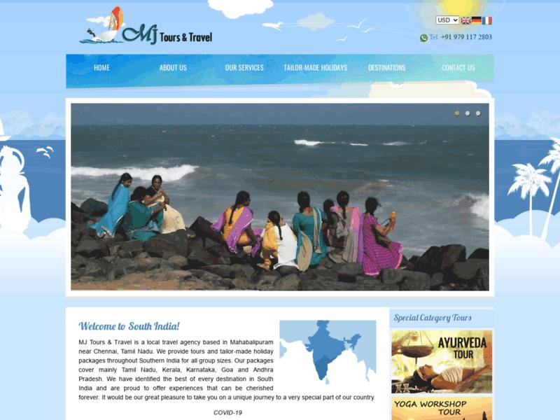MJ Tours & Travel, voyage en Inde du Sud