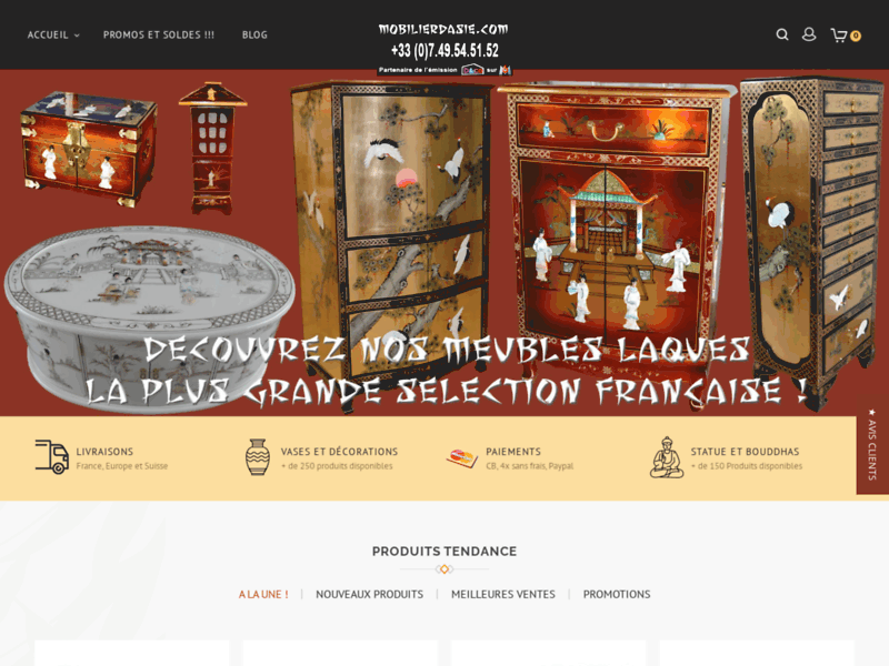 Mobilier d'Asie