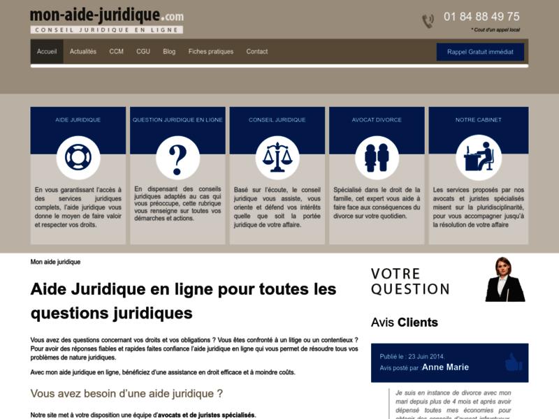 Aide juridique en ligne : question juridique