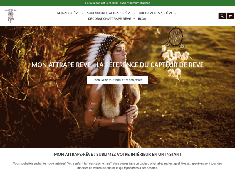 Screenshot du site : Mon Attrape Reve