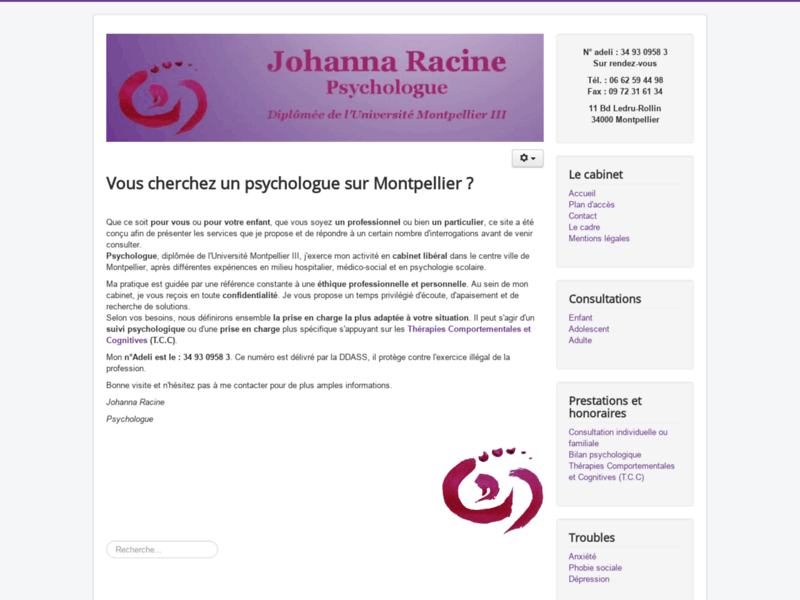 Johanna Racine, psychologue à Montpellier