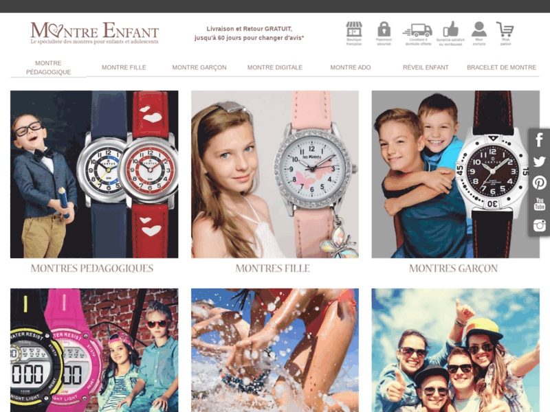 Montre Enfant, achat en ligne de montres pour enfants et adolescents