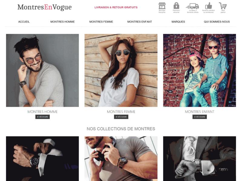 Montres en Vogue, la nouvelle boutique de montres pour homme et femme