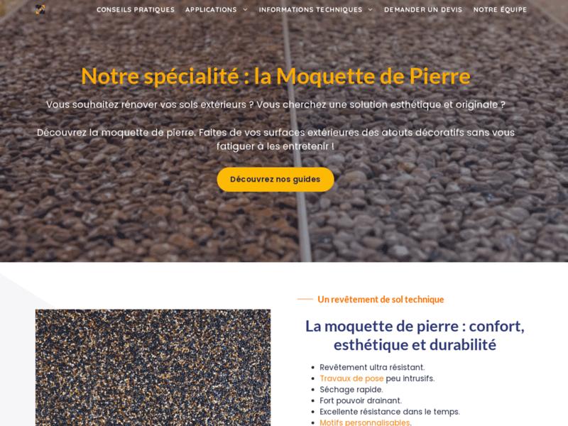 Moquette Pierre, moquette de pierre et de marbre