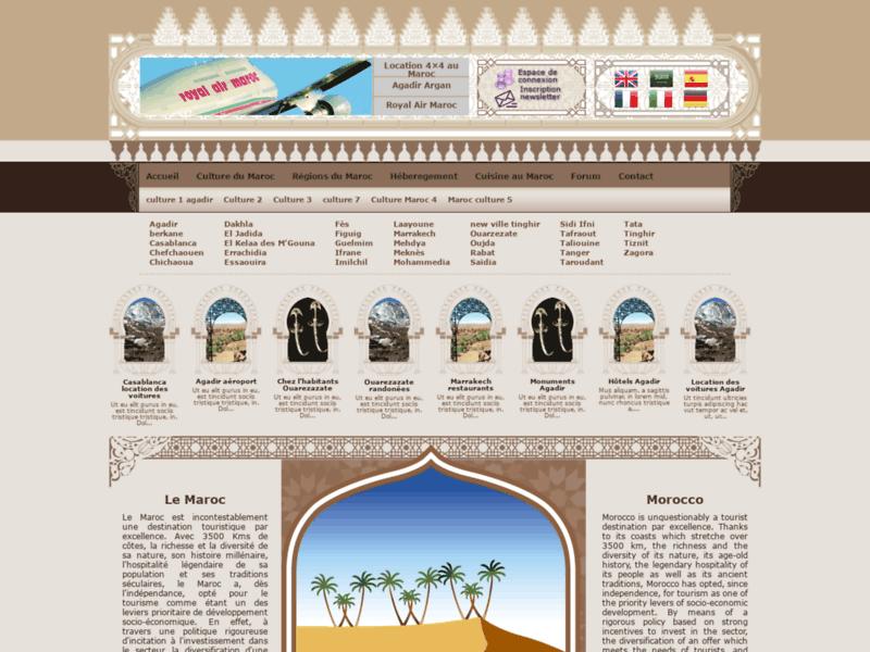 Site du tourisme marocain hôtel, location voitures, villa Maroc voyage