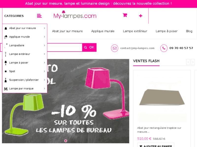 Abat jour sur mesure, applique et lampe design : My-lampes.com