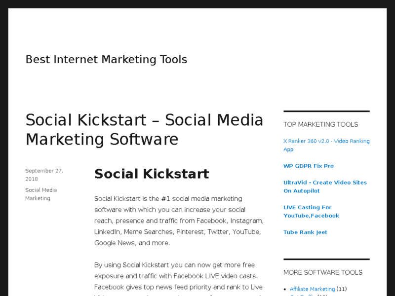 Website's screenshot : Best Internet Marketing Tools