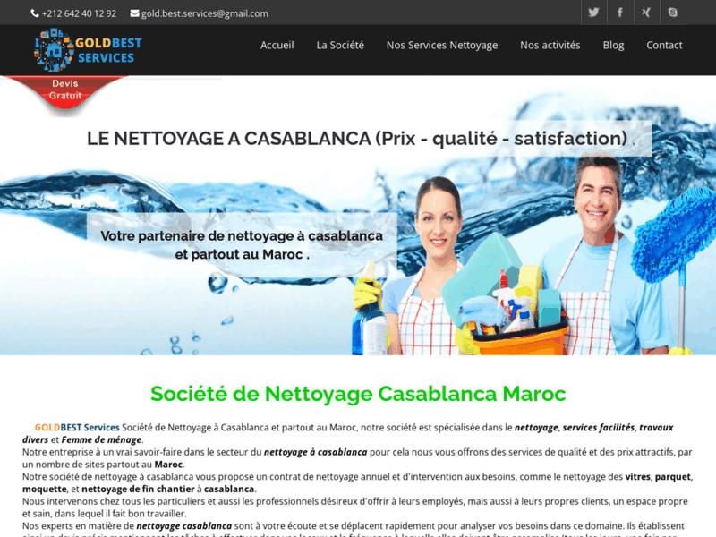 Goldbest Services, société de nettoyage et ménage à Casablanca