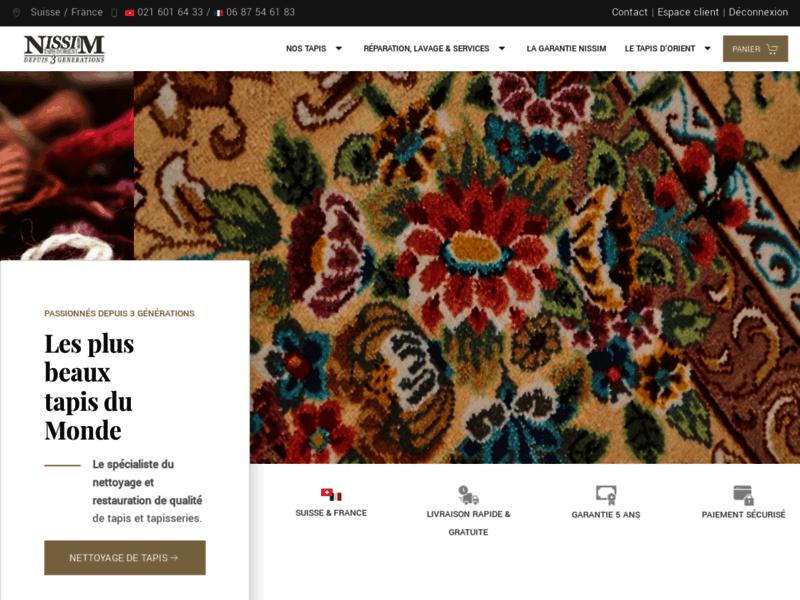 Tapis faits main, tapis de soie avec Nissim à Paris