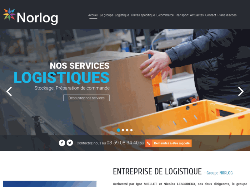 Transport et logistique Nord, Belgique, Europe - Groupe Norlog