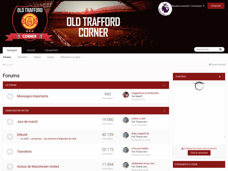 Old Trafford Corner, forum des supporters de Manchester United