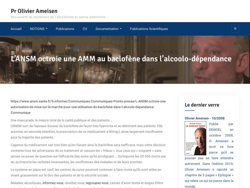 Baclofène - Olivier Ameisen