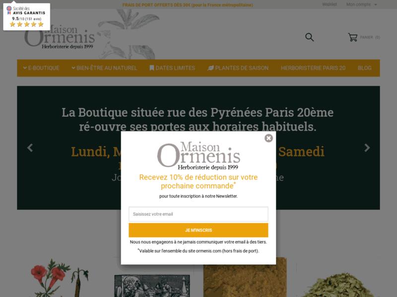 Maison Ormenis, herboristerie à Paris