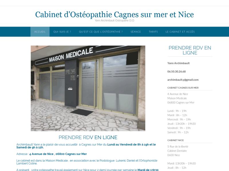 Cabinet d'Ostéopathie Cagnes-sur-Mer