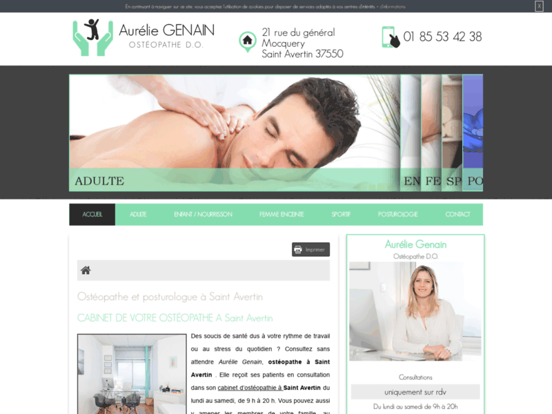 Aurélie GENAIN, votre spécialiste des soins ostéopathiques