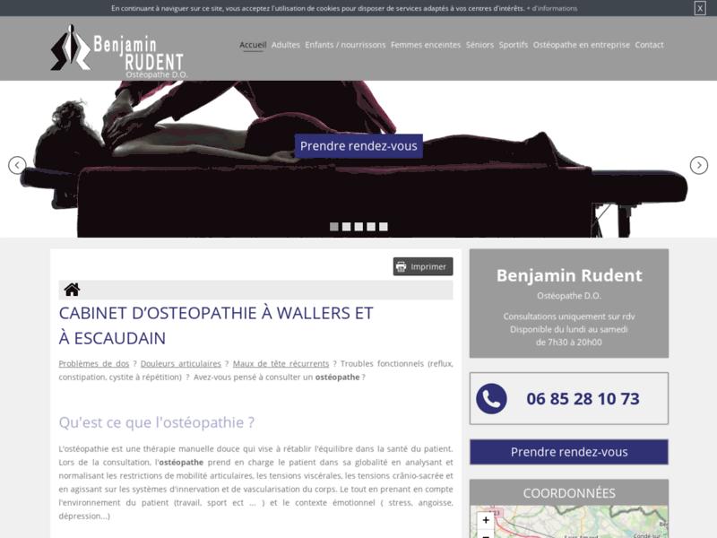 Consultation en ostéopathie avec Benjamin Rudent, ostéopathe à Wallers