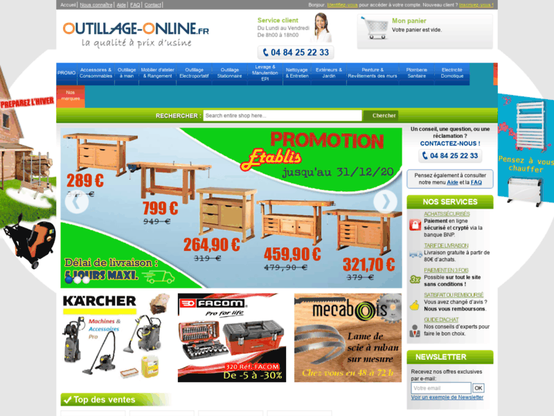 Outils - outillage online