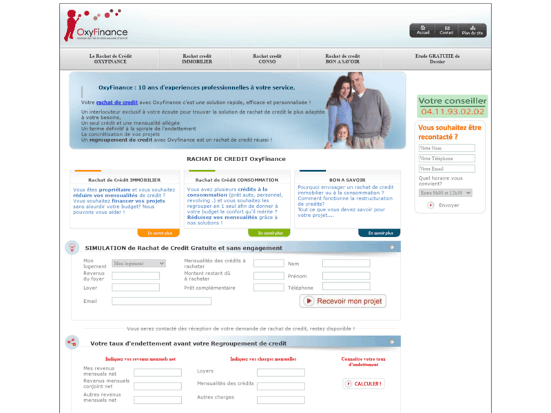 Oxyfinance, rachat de crédit pour les particuliers