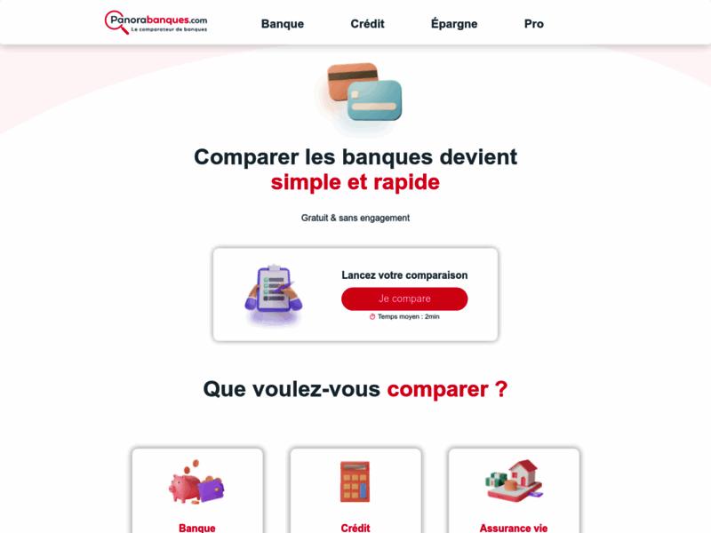 Panorabanques : Comparateur de banques - Comparer les banques et services bancaires