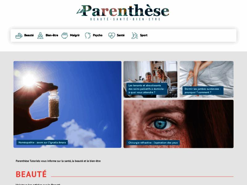 Parenthèse Tutoriels : la plateforme bien-être & beauté