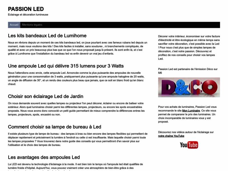 Passion LED - éclairage décoratif led et éclairage économique