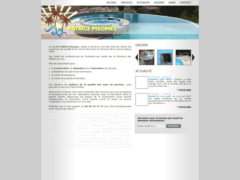 Patrice Piscines, réparateur de spas sur Toulon