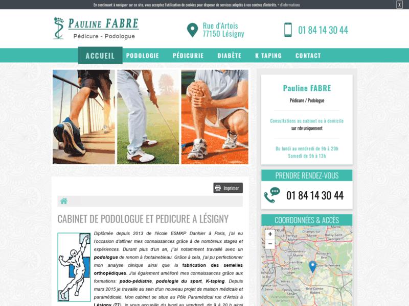 Pauline Fabre, podologue à Lésigny