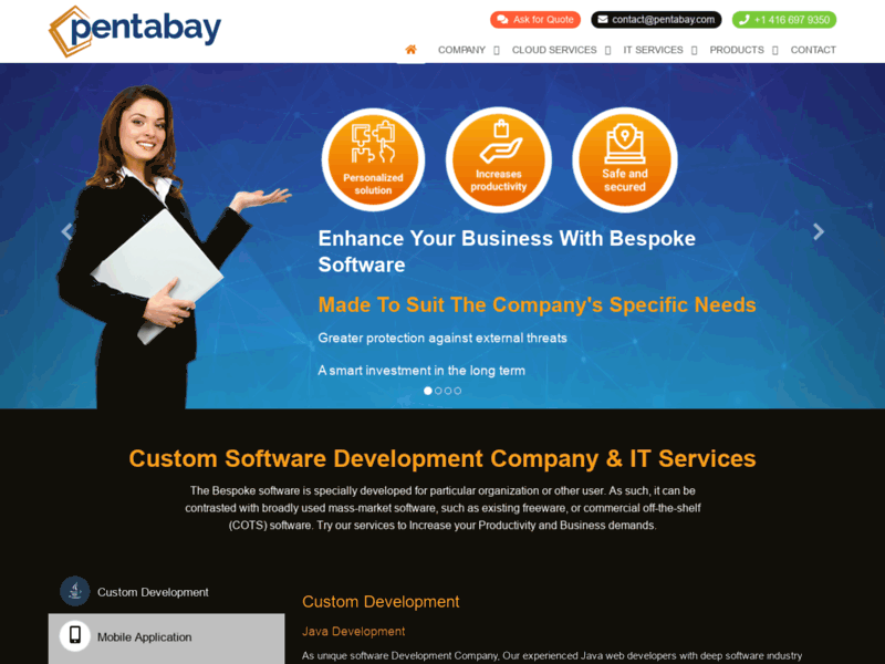 Website's screenshot : Pentabay Software Inc