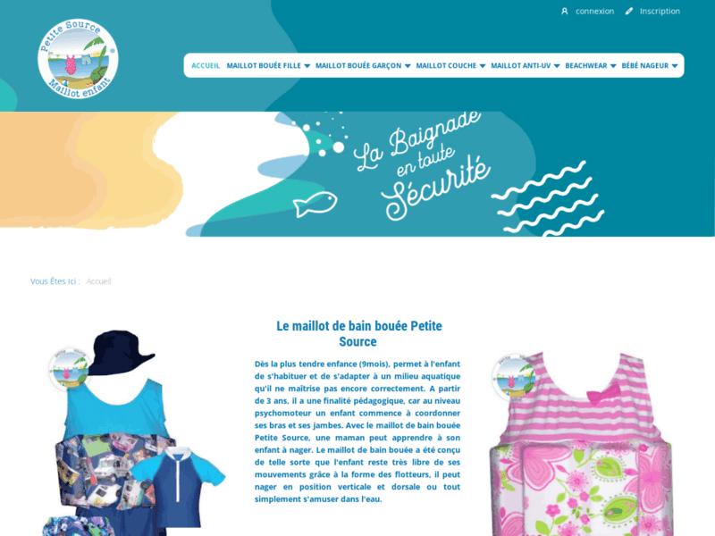 Petite Source, maillot de bain bébé nageur