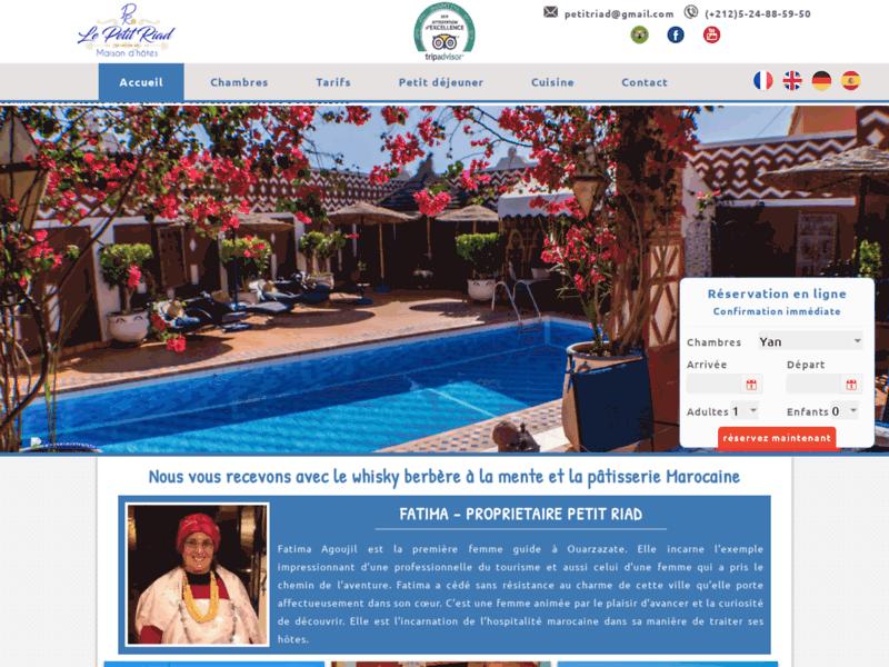 Le Petit Riad - Maison d'hôte à Ouarzazate - Maroc