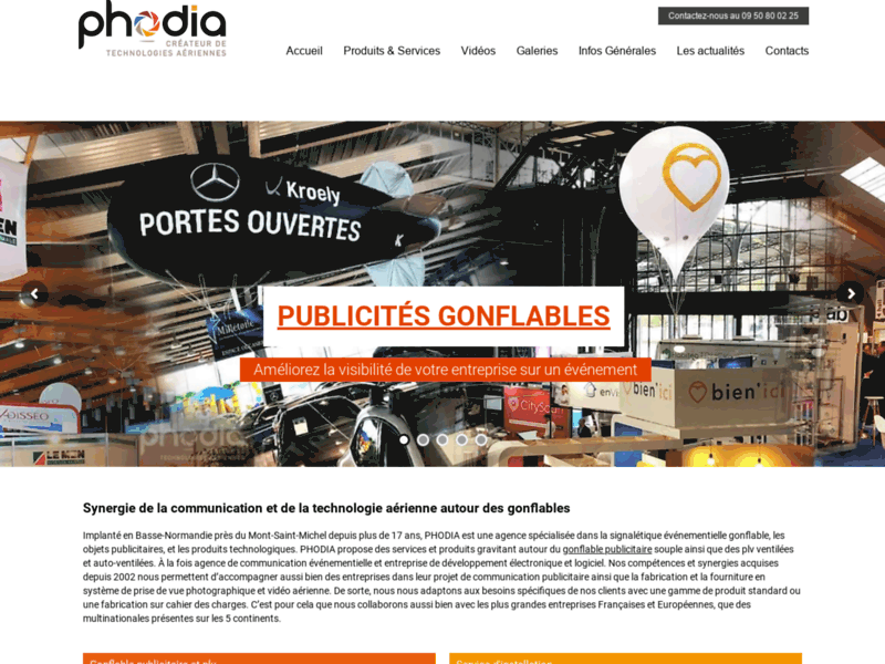 Screenshot du site : Phodia sarl