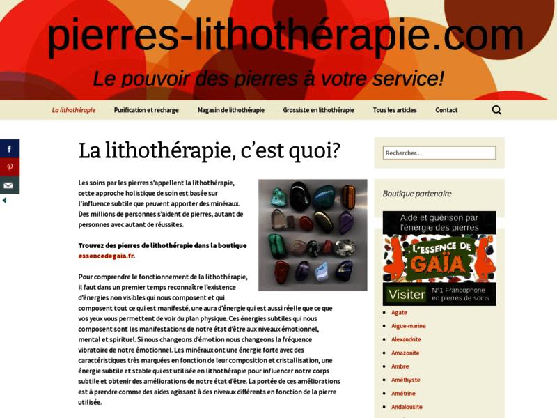 Lithothérapie , les pierres et ses bien faits