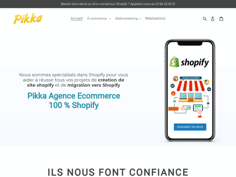 Pikka, votre agence e-commerce 100 % Shopify