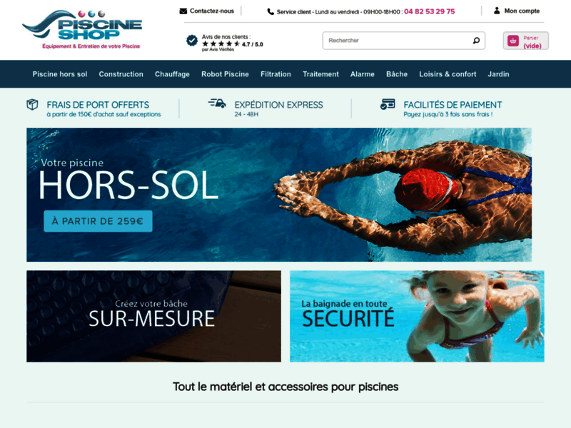 Piscine Shop : robot piscine