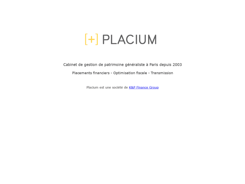Placium, conseils en gestion de patrimoine à Paris
