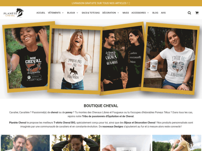 Screenshot du site : Planète Cheval