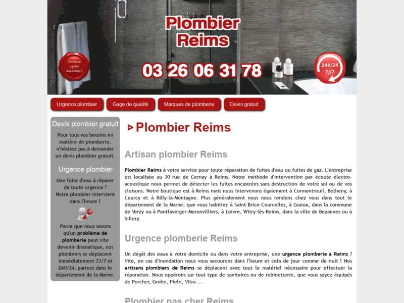 Dépannage en plomberie à Reims