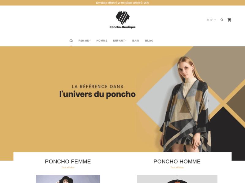 Poncho Boutique : des ponchos tendance pour tous