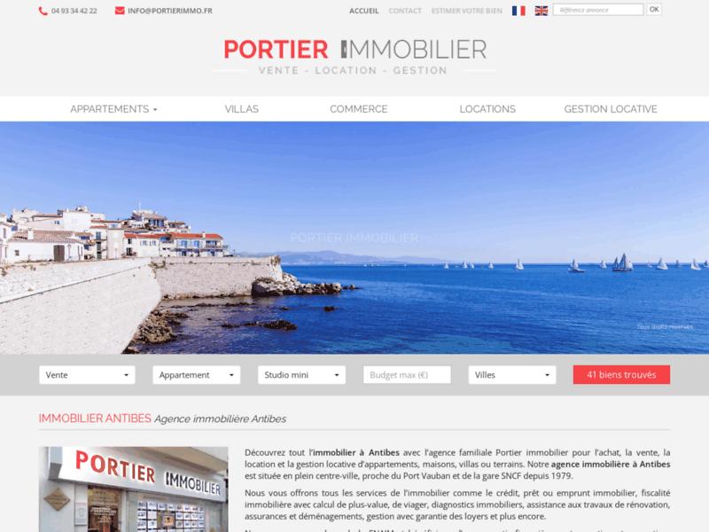 Agence immobilière Antibes  -portierimmo.fr