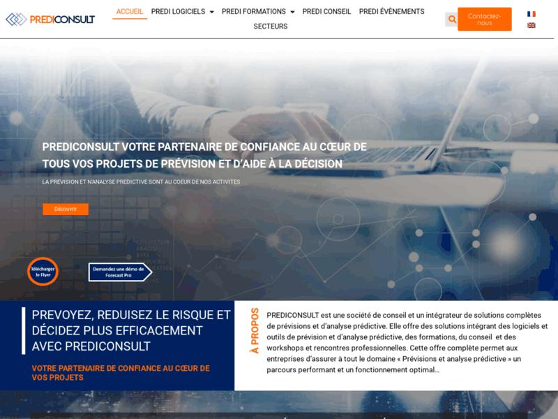 Prediconsult, logiciel de prévision économique