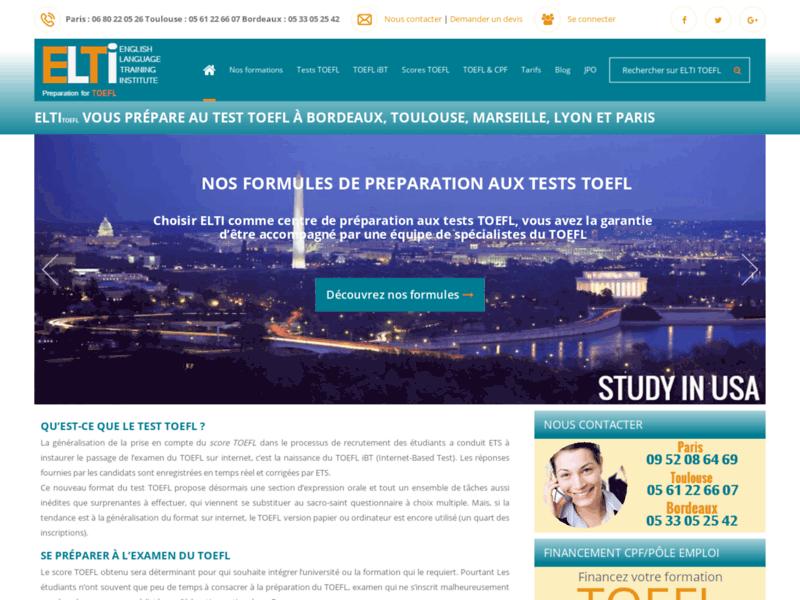ELTI , préparation au test TOEFL