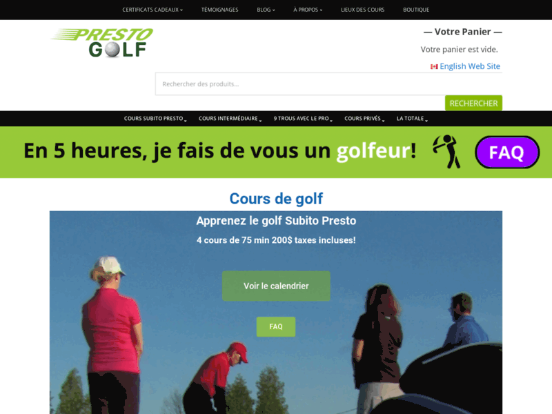 Cours de golf Laval   Presto Golf