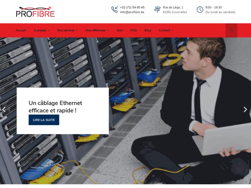 Profibre Belgique, votre installateur de câblage informatique Ethernet et de fibre optique