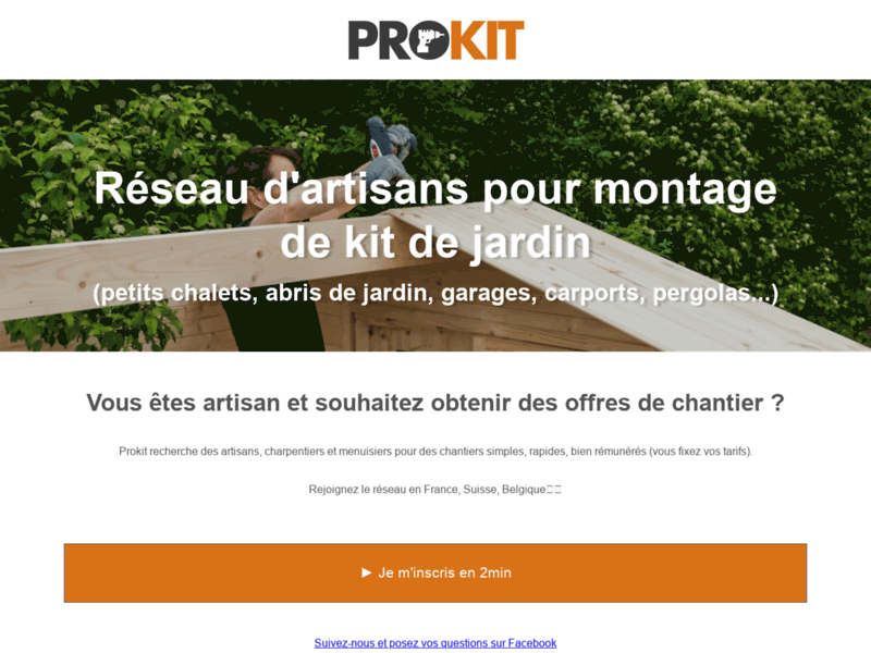 Prokit, montage de produits en kit par des pros